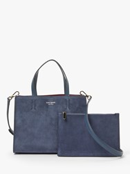 Kate Spade New York Watson Lane Sam Suede Medium Satchel Bag Blue