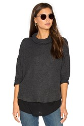 Generation Love Ada Turtleneck Top Charcoal