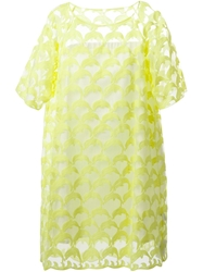 Tsumori Chisato Sheer Embroidered Dolphin Dress