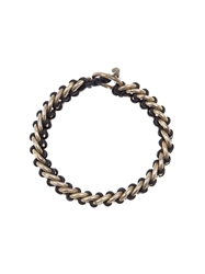Tobias Wistisen Braided Ring Bracelet Black