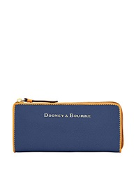 Dooney And Bourke Claremont Leather Wallet Navy