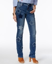 Inc International Concepts Curvy Fit Patched Boyfriend Jeans Only At Macy's Indigo