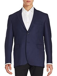 Yves Saint Laurent Two Button Wool Jacket Blue
