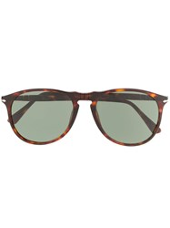 Persol Round Frame Sunglasses Brown