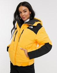 The North Face Himalayan Puffer Jacket In Yellow