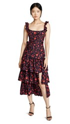 Likely Charlotte Dress Navy Red