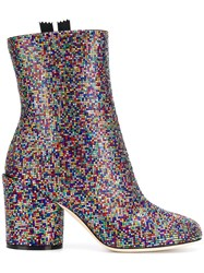 Marco De Vincenzo Embellished Ankle Boots Red