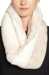Badgley Mischka Women's Faux Chinchilla Neck Warmer Ivory