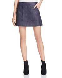 Rebecca Minkoff Leather Mini Skirt Navy