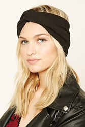 Forever 21 Tie Front Headwrap Black