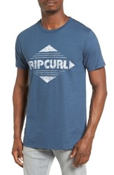 Rip Curl Men's Diamonds Graphic T Shirt Dark Denim
