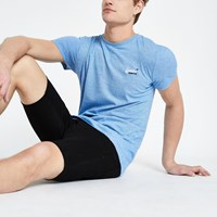 Superdry Blue Logo Embroidered T Shirt