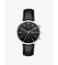 Jaryn Silver Tone And Leather Watch