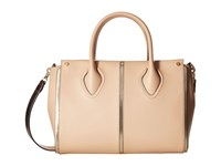 Ivanka Trump Greenwich Satchel Nude Pebble Satchel Handbags Beige