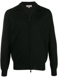 Canali Stand Collar Zip Front Cardigan 60