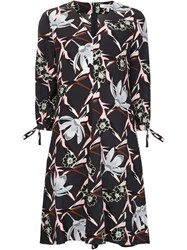 Dorothee Schumacher V Neck Floral Print Dress Blue