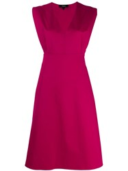 Theory Easy V Neck Dress Pink