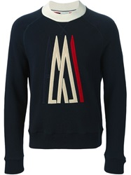 Moncler X Ami Embroidered Logo Sweater Blue
