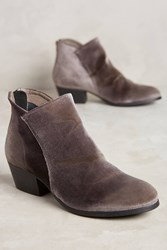 Anthropologie Hudson Apisi Ankle Boots Velvet Grey