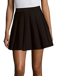 Parker Solid A Line Pleated Skirt Black