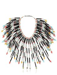 Sharra Pagano Milano Pappagallo Beaded Fringe Necklace