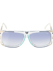 Cazal Square Frame Sunglasses Blue