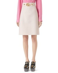 Gucci Wool Silk A Line Mini Skirt White