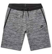 Nike Melange Tech Knit Shorts Gray