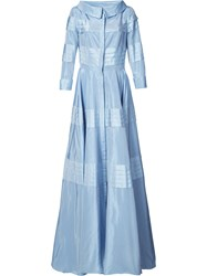 Carolina Herrera Taffeta Gown Women Polyester 4 Blue