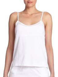 Skin Tulle Trimmed Cami White