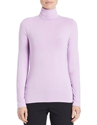 Lord And Taylor Fitted Turtleneck Lavender