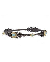 Armenta Black Diamond And Turquoise Double Dagger Bangle Women's