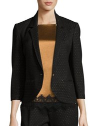 Abs By Allen Schwartz Geometric Dotted Fitted Blazer Black