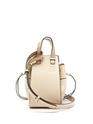Loewe Hammock Mini Leather Bag Light Grey