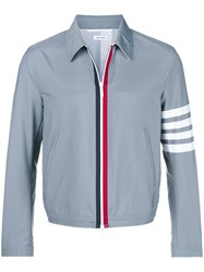 Thom Browne 4 Bar Swim Tech Golf Jacket Grey