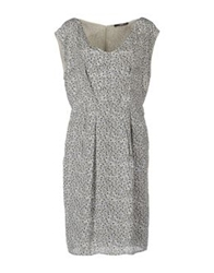 Ajay Knee Length Dresses Grey