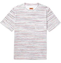 Missoni Space Dyed Knitted Cotton T Shirt Multi