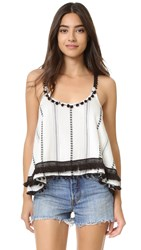 Tularosa Wilder Cami Top Ivory Striped Tribal