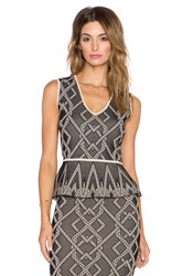 Bcbgmaxazria Alonya Top Black