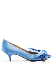N 21 Twisted Satin Pumps Blue