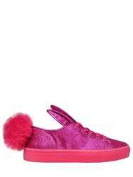 Minna Parikka 20Mm Glitter Fabric Bunny Tail Sneakers