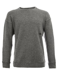 The Elder Statesman Cashmere Embroidered Eye Jumper Grey