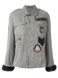 Girlsmusthave Patched Denim Jacket Green