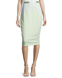 Prabal Gurung Combo Pencil Skirt Mint