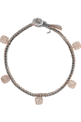 Brooke Gregson 18 Karat Rose Gold Sterling Silver And Diamond Bracelet