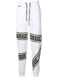 Plein Sport Branded Track Trousers White