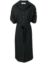 Chalayan Poplin Shirt Dress Black