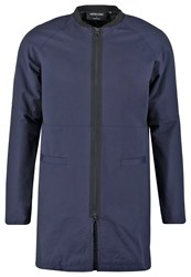 Anerkjendt Jenner Short Coat Navy Light Grey