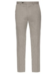 Mathieu Jerome Slim Fit Wool Trousers