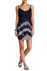 Go Couture Sleeveless Front Ruched Print Dress Multi